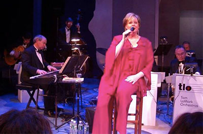 Jan Peters singing with The Tom LaMark Orchestra